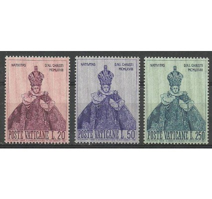 Znaczek Watykan 1968 Mi 541-543 Czyste **