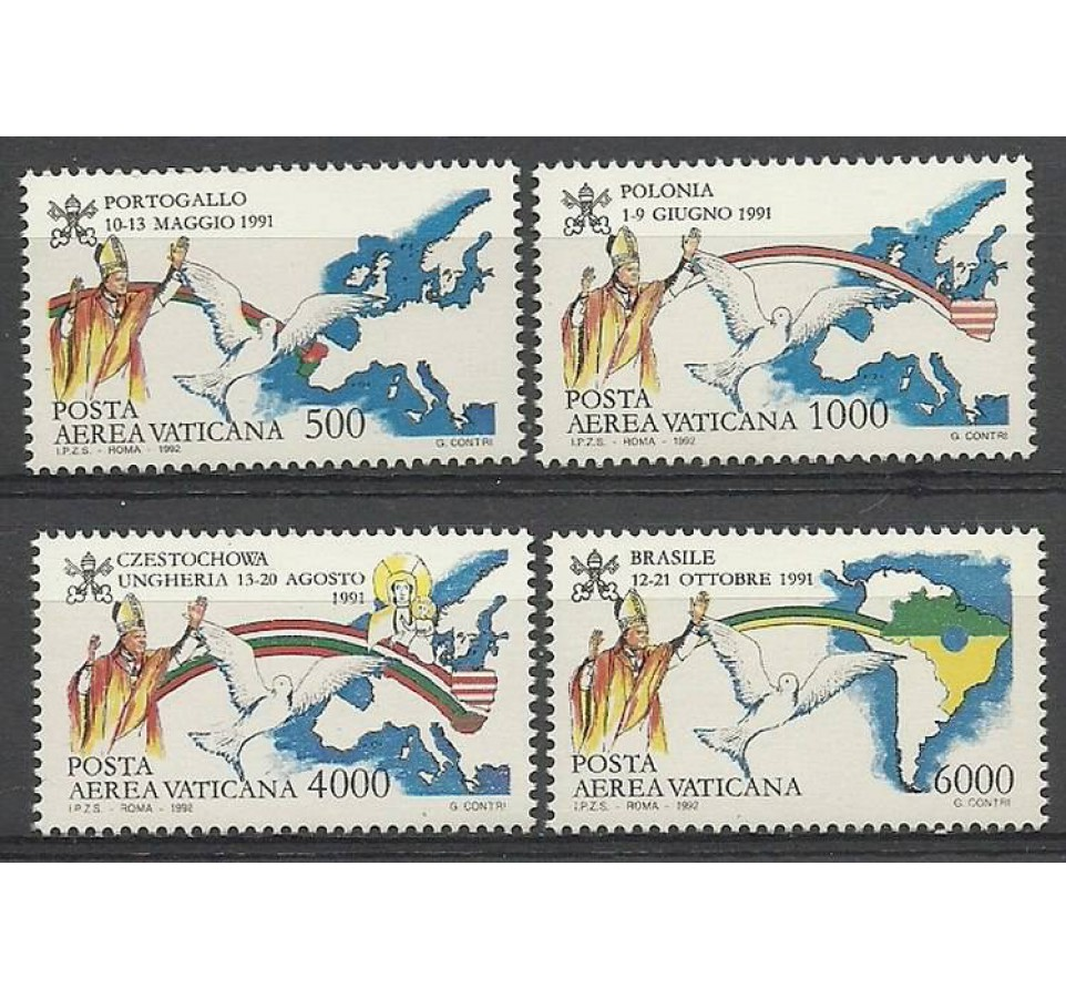Watykan 1992 Mi 1071-1074 Czyste **