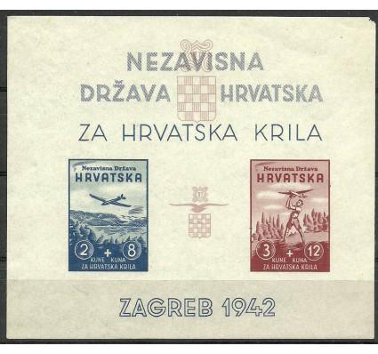 Znaczek Chorwacja 1942 Mi bl 1 Z podlepką *