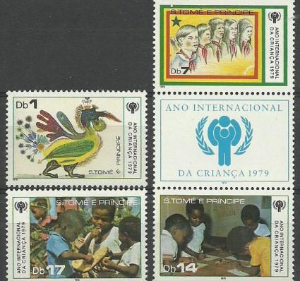 Znaczek Wyspy Św. Tomasza i Książęca 1979 Mi 579-582 Czyste **