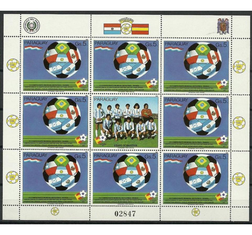 Paragwaj 1982 Mi ark 3534 Czyste **