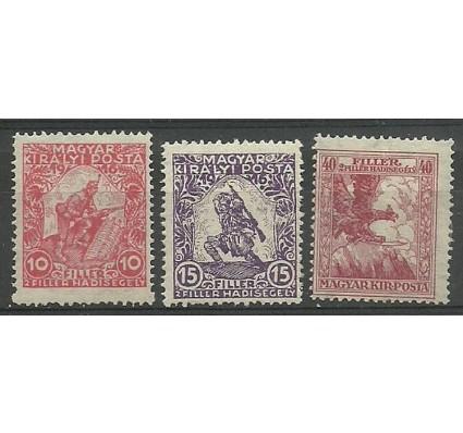 Znaczek Węgry 1916 Mi 183-185 Z podlepką *