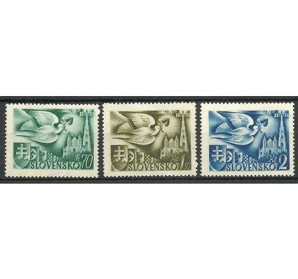 Znaczek Słowacja 1942 Mi 102-104 Z podlepką *