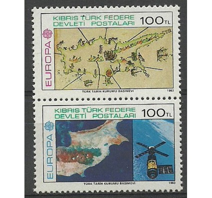 Znaczek Cypr Północny 1983 Mi 127-128 Czyste **