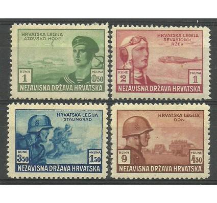 Znaczek Chorwacja 1943 Mi 107-110 Z podlepką *