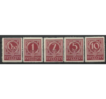 Znaczek Chorwacja 1941 Mi por 6-10 Z podlepką *