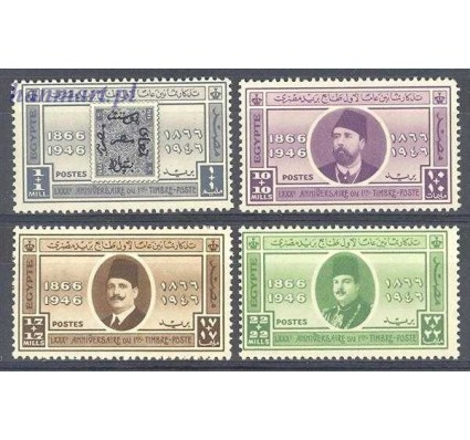 Znaczek Królestwo Egiptu 1946 Mi 284-287 Czyste **
