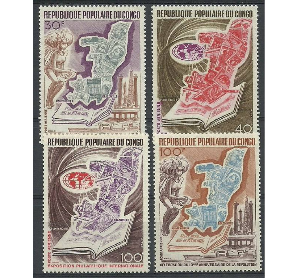 Kongo 1973 Mi 386-389 Czyste **