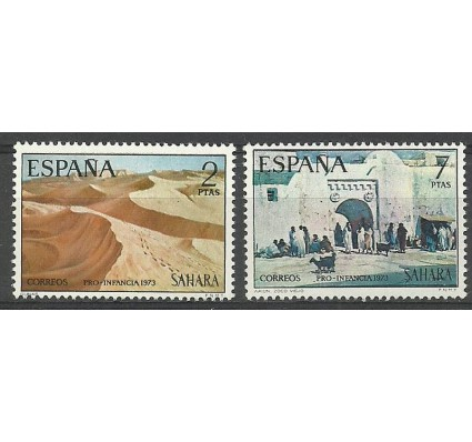 Znaczek Sahara Espanol 1973 Mi 341-342 Czyste **