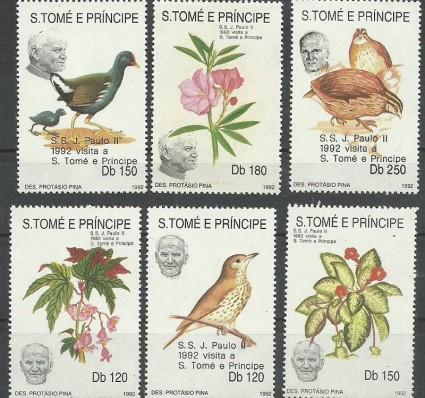 Znaczek Wyspy Św. Tomasza i Książęca 1992 Mi 1324-1326I+27-28II+1329III Czyste **