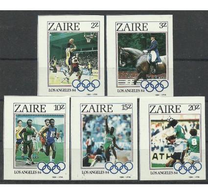 Znaczek Kongo Kinszasa / Zair 1984 Mi 861-865B Czyste **