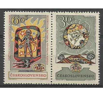 Znaczek Czechosłowacja 1962 Mi 1355-1356 Czyste **