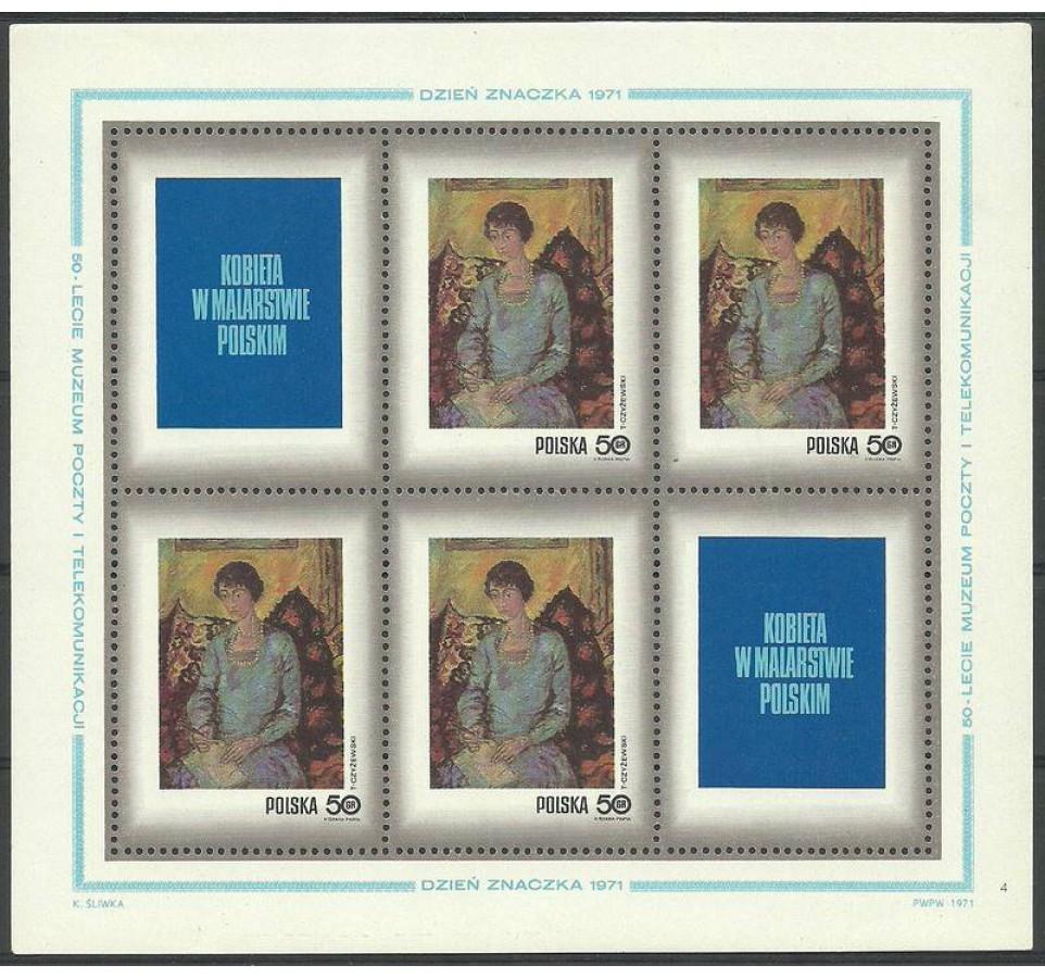 Polska 1968 Mi ark 2111 Fi bl 80 Czyste **