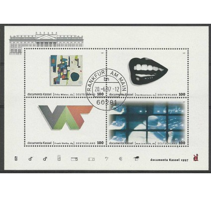 Znaczek Niemcy 1997 Mi bl 39 Stemplowane