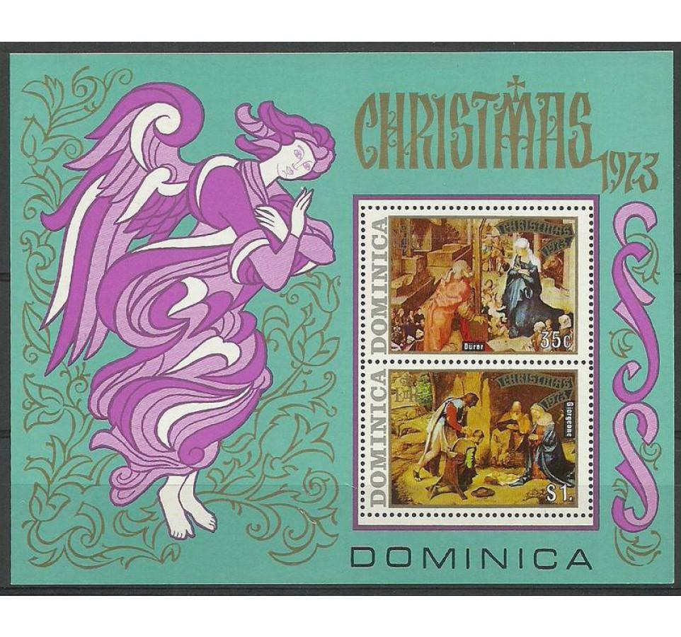 Dominika 1973 Mi bl 20 Czyste **