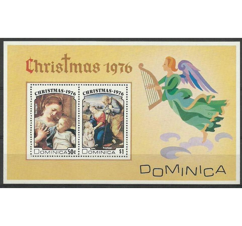 Dominika 1976 Mi bl 39 Czyste **