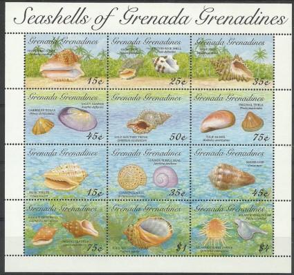 Znaczek Grenada i Grenadyny 1993 Mi ark 1738-1749 Czyste **