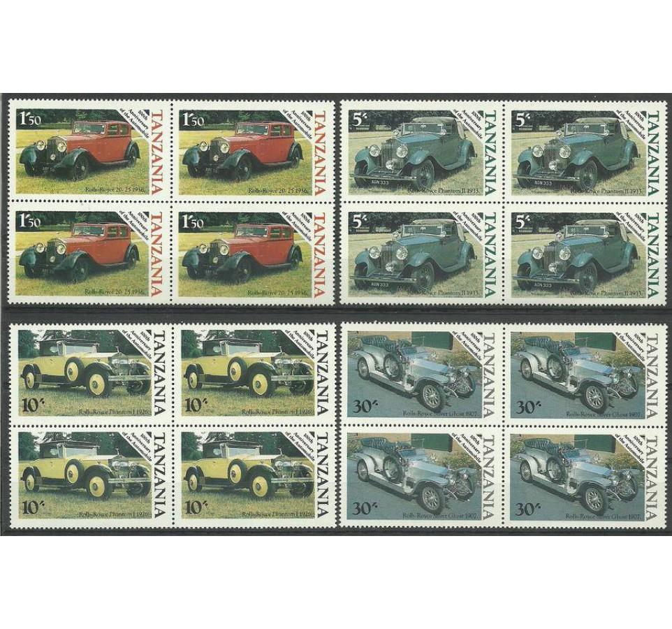 Tanzania 1986 Mi 309-312 Czyste **