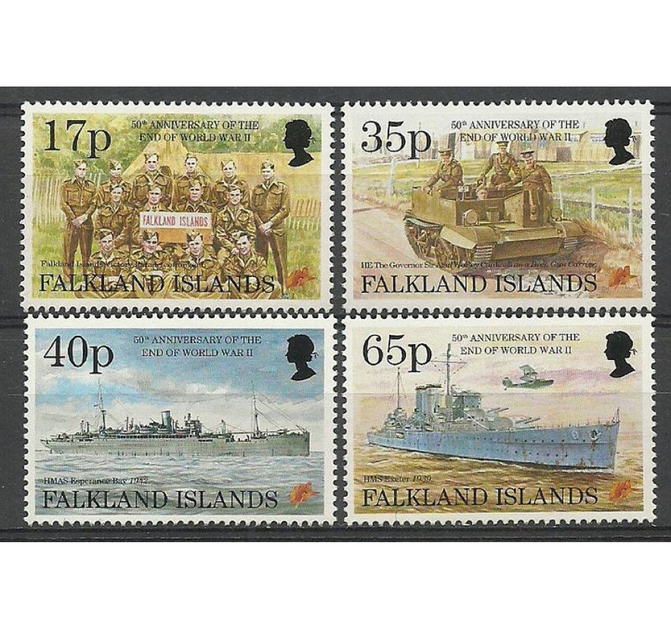 Falklandy 1995 Mi 644-647 Czyste **