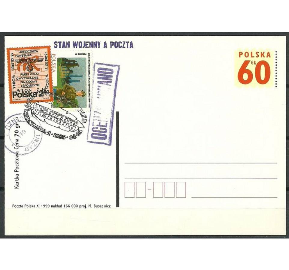 Polska 1999 Fi 1225 Całostka pocztowa