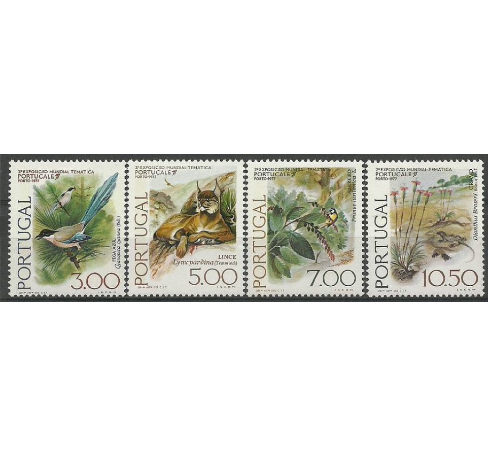 Portugalia 1976 Mi 1326-1329 Z podlepką *