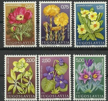 Znaczek Jugosławia 1969 Mi 1330-1335 Czyste **