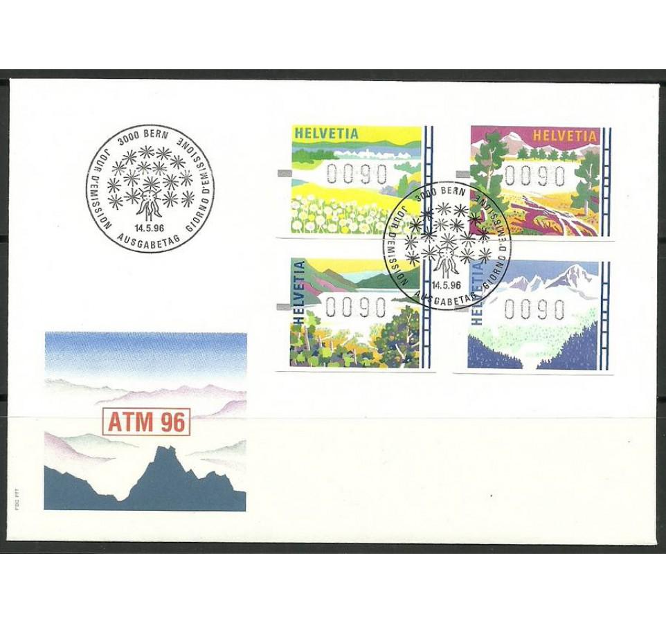 Szwajcaria 1996 Mi aut 7-10 (0090) FDC