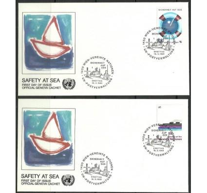 Znaczek Narody Zjednoczone Wiedeń 1983 Mi 30-31 FDC