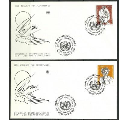 Znaczek Narody Zjednoczone Wiedeń 1984 Mi 43-44 FDC