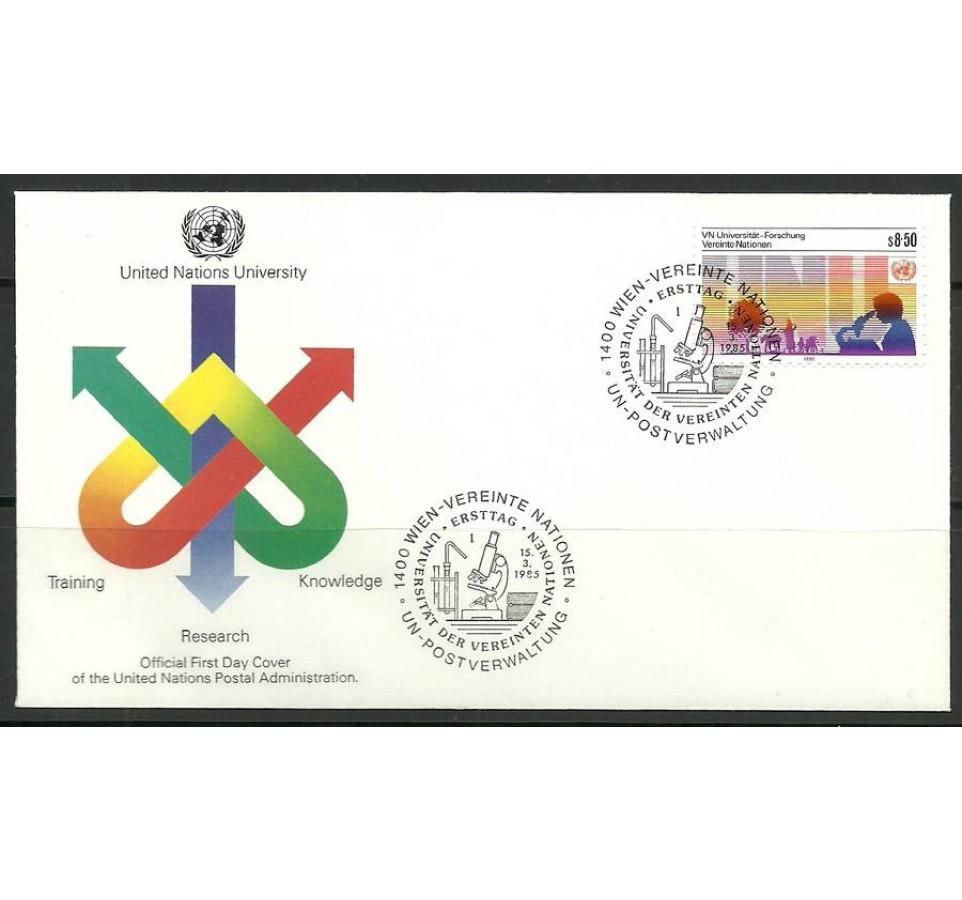 Narody Zjednoczone Wiedeń 1985 Mi 48 FDC