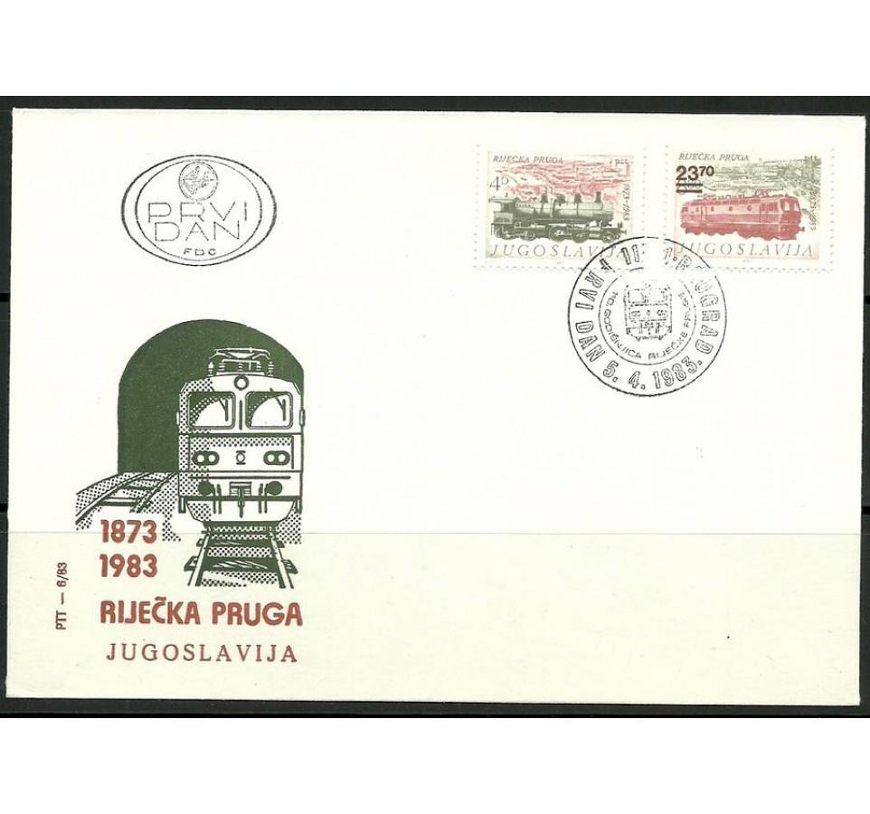 Jugosławia 1983 Mi 1981-1982 FDC