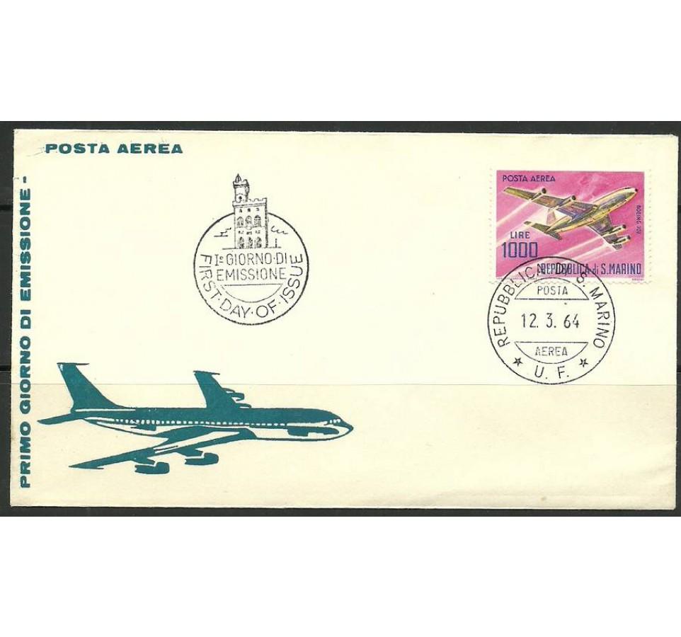San Marino 1964 Mi 801 FDC