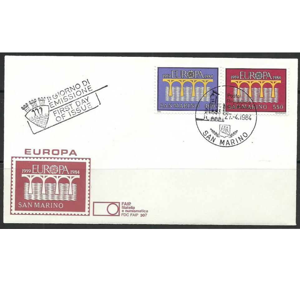 San Marino 1984 Mi 1291-1295 FDC