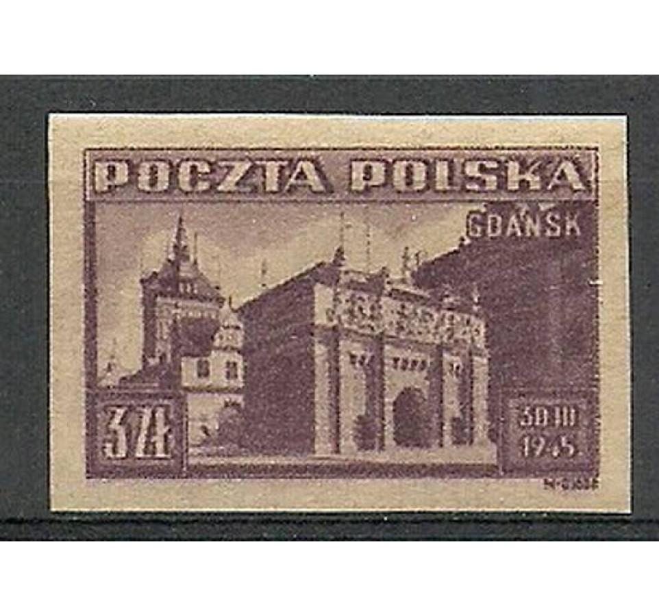 Polska 1945 Mi 412B Fi 379A Czyste **