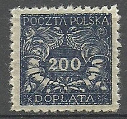 Znaczek Polska 1920 Mi die 31 Fi D 22 Czyste **
