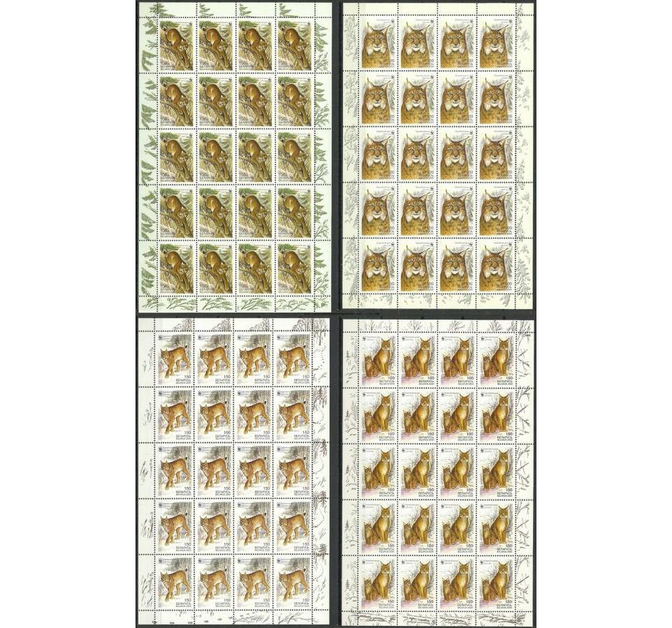 Białoruś 2000 Mi ark 373-376 Czyste **