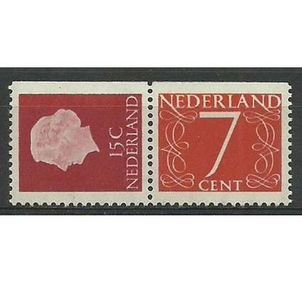 Znaczek Holandia 1953 Mi 621Dr+614Do Czyste **