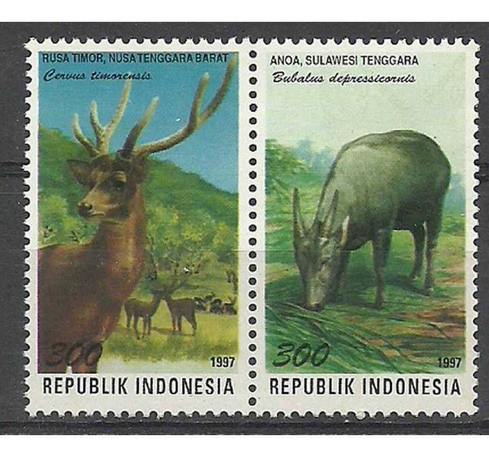 Indonezja 1997 Mi 1740-1741 Czyste **