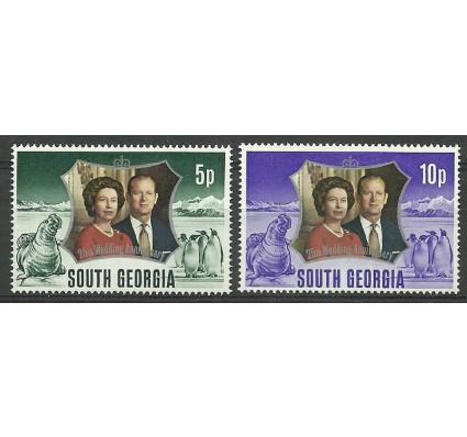 Znaczek Georgia Południowa i Sandwich Południowy 1972 Mi 43-44 Czyste **