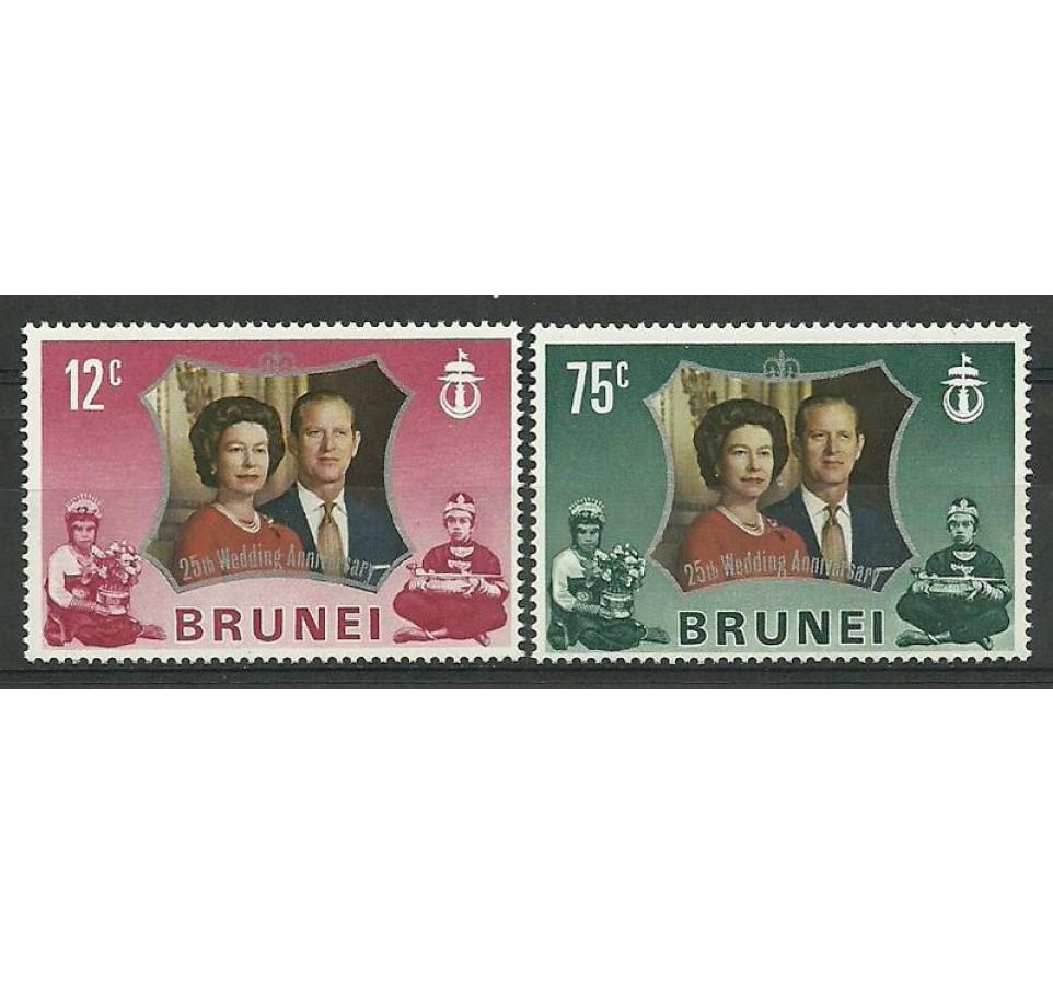 Brunei 1972 Mi 180-181 Czyste **
