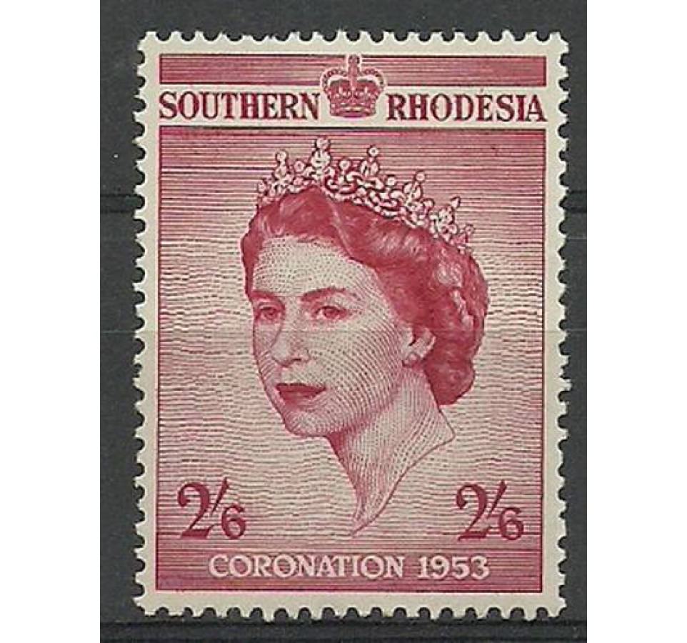 Rodezja 1953 Mi 79 Z podlepką *