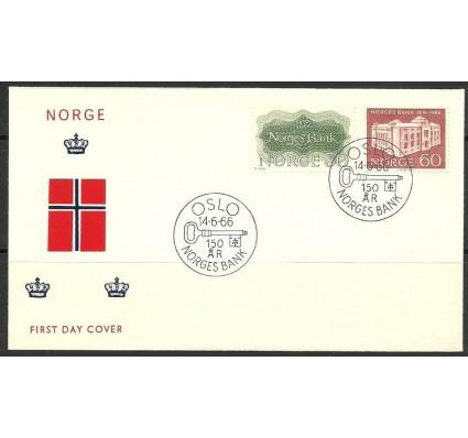 Znaczek Norwegia 1966 Mi 543-544 FDC
