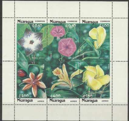 Znaczek Nikaragua 1985 Mi ark 2586-2591II Czyste **