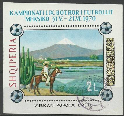Znaczek Albania 1970 Mi bl 38 Stemplowane