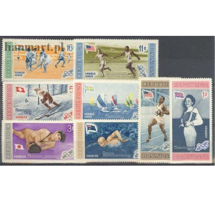 Dominikana 1958 Mi 660-667 Czyste **