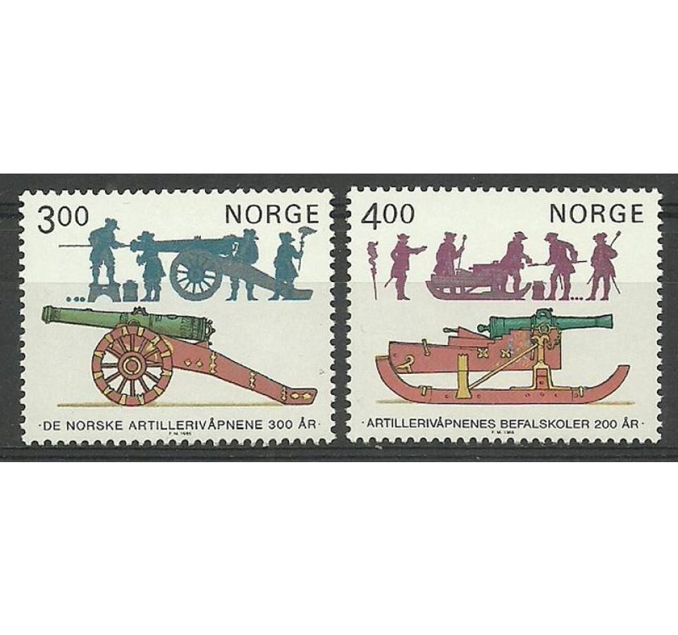 Norwegia 1985 Mi 921-922 Czyste **