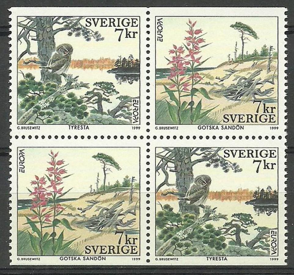 Szwecja 1999 Mi 2122-2123 Czyste **