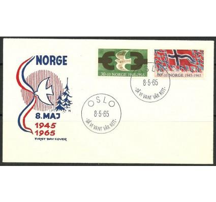 Znaczek Norwegia 1965 Mi 528-529 FDC