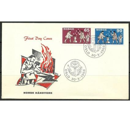 Znaczek Norwegia 1968 Mi 564-565 FDC