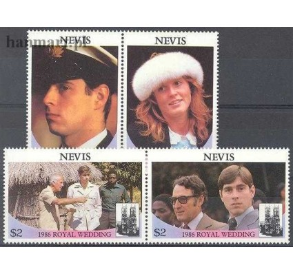 Znaczek Nevis 1986 Mi 393-396 Czyste **